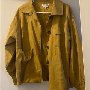 Native Youth mustard yellow light coat